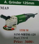 ANGLE GRINDER 125MM 1550W ORIGINAL MEBOTE BRAND PRICE IN PAKISTAN