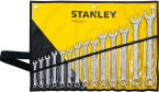 Combination Wrench Sets, 8; 9; 10; 11; 12; 13; 14; 15; 16; 17; 18; 19; 22; 24 mm  STANLEY BRAND PRICE IN PAKISTAN