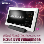 10 INCH TOUCH QUAD KVRA510/D510 H.264 HD VIDEO PHONE ORIGINAL KOCOM BRAND PRICE IN PAKISTAN
