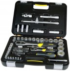"""1/4 and 1/2"""" Square Drive, 77 Pieces Socket Set STANLEY BRAND PRICE IN PAKISTAN"""