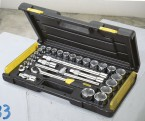 "29 Piece 1/2"" Micro Tough Socket Set, 8- 9- 10- 11- 12- 13- 14- 15- 16- 17- 18- 19- 20- 21- 22- 23- 24- 26- 28- 29- 30- 32 mm STANLEY BRAND PRICE IN PAKISTAN"