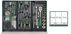 134 Pcs Tool-Trolly Group Storage Kits Grouping ORIGINAL HANS BRAND PRICE IN PAKISTAN