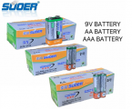 1.5V AND 9V AA AND AAA BATTERIES SUOER BRAND PRICE IN PAKISTAN