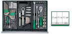 125 Pcs Tool-Trolly Group Storage Kits Grouping ORIGINAL HANS BRAND PRICE IN PAKISTAN