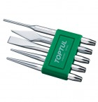5 PIECES CHISEL SET-PIN PUNCH ORIGINAL TOPTUL BRAND PRICE IN PAKISTAN