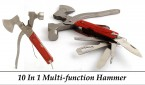 10-in-1 Multi-Functional Hammer Tool Kit Set With Pouch